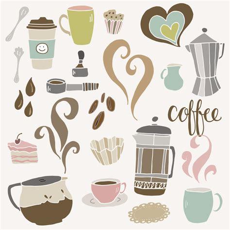 espresso coffee clipart clip art cute coffee set cafe shop french press