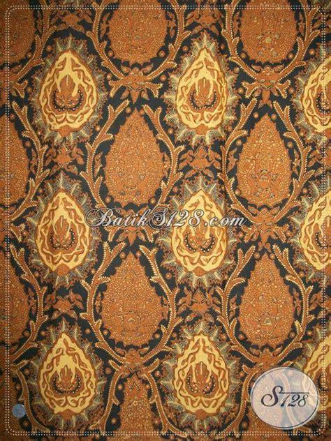 Souvenir Kain Batik Tulis Motif Bokor jual kain batik klasik motif bokor latar ireng warisan
