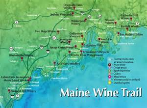 maine wine trail map food drink