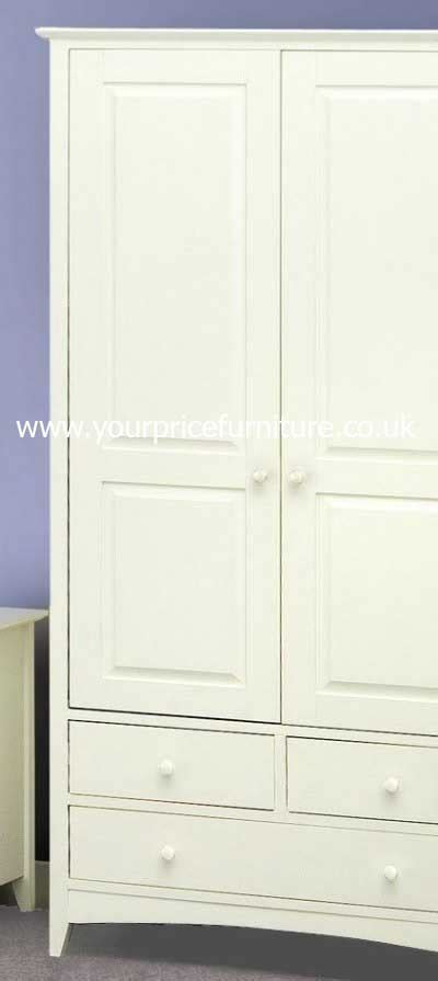 White Style Wardrobe by Your Price Furniture Co Uk Cameo White Shaker Style Combination Wardrobe Review Compare