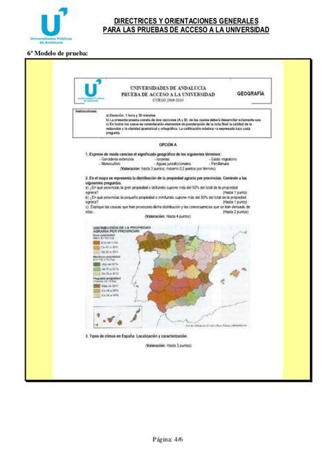 preguntas geografia selectividad selectividad geografia 2011 12