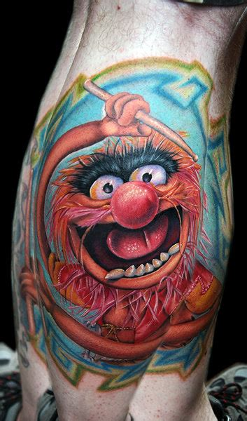 muppet tattoo sesame and the muppets tattoos the tattooed