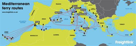 map uk ferry routes how do i get a ferry from uk to mediterranean