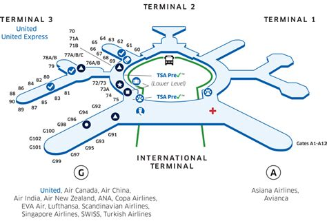 san francisco airport map pdf sfo airport map united airlines