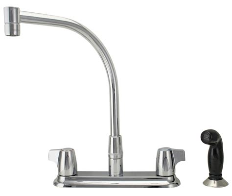 Moen Two Handle Kitchen Faucet Moen Chrome 2 Handle Hi Arc Kitchen Faucet With Blade