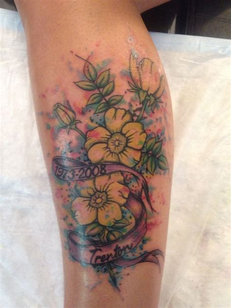buttercup tattoo buttercup watercolour in memory of my