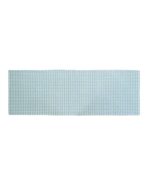 blue check rug cotton woven gingham check blue rug homescapes