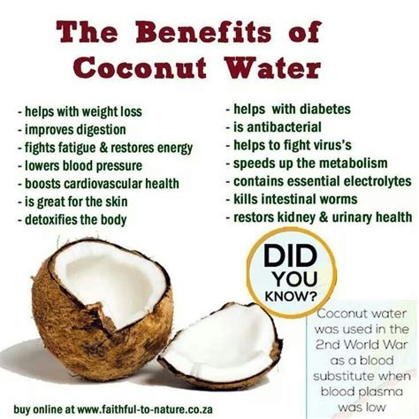 10 Best images about Coconut water benefits on Pinterest