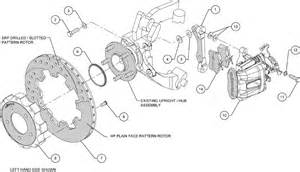 Honda Civic Brake System Diagram Wilwood Disc Brake Kit 06 12 Honda Civic Si 2 0l 13 Quot 12