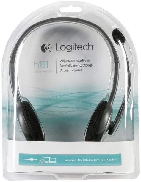 Logitech Headset H111 logitech h111 stereo headset pc headsets computeruniverse