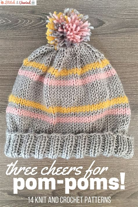 how to knit a pom pom hat three cheers for pom poms 14 knit and crochet hats