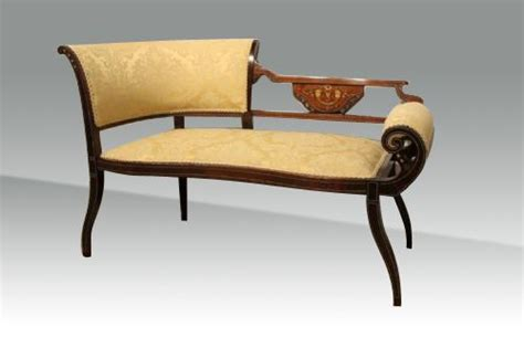 settees for sale uk antique mahogany inlaid settee window seat 373188