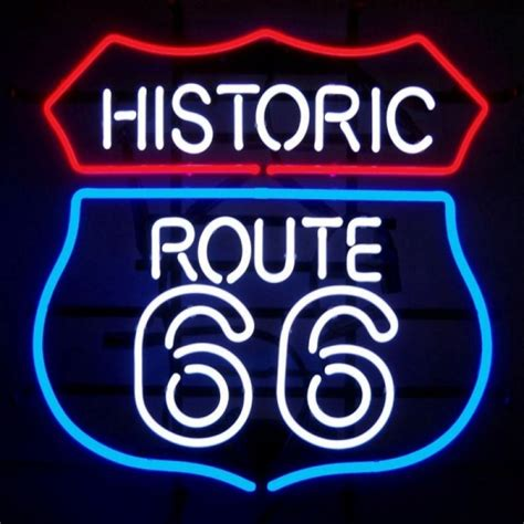 Lu Neon Box enseigne lumineuse route 66 us way of