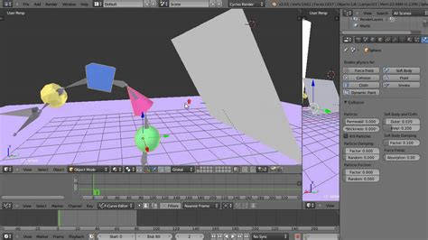 tutorial blender armature blender tutorial armature based objects colliding with a