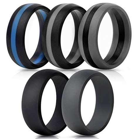 saco band silicone wedding rings middle line plain