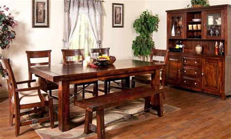 rustic kitchen table set the best wood furniture