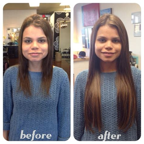 hair extensions before and after hair extensions before and after 22 quot keratin fusion hair extensions yelp