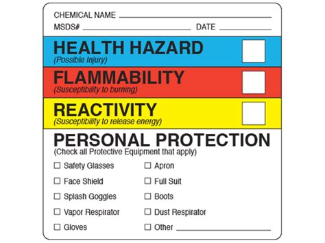 Blank Msds Labels Kamos Sticker Msds Label Template