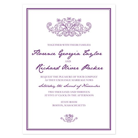 wedding invitation layout exles sle invitation templates sles and templates