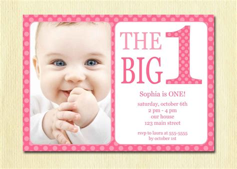 7 best images of first birthday party invitations