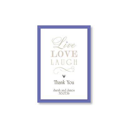 live laugh wedding invitation wording live laugh thank you card wedding stationery