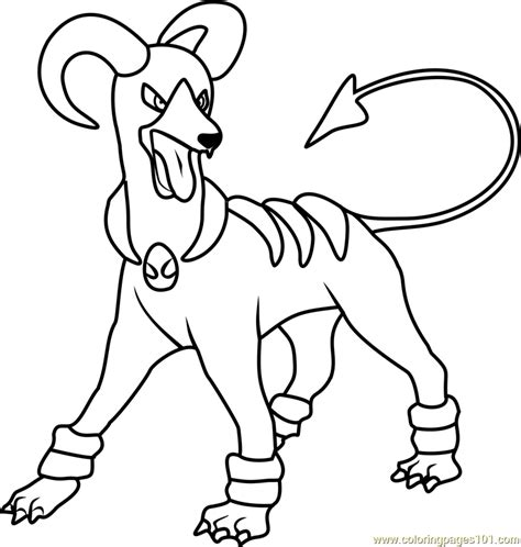 pokemon coloring pages houndoom houndoom pokemon coloring page free pok 233 mon coloring