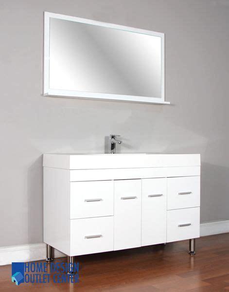vanity home design outlet center at 8042 w 47 quot single modern bathroom vanity set white