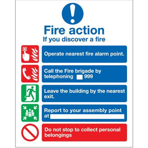 facilities management janitorial signs fire