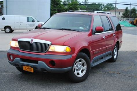 auto air conditioning service 1998 lincoln navigator user handbook buy used 1998 lincoln navigator suv 5 4l maroon beauty lo miles no reserve in bethpage new york