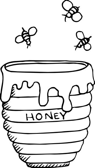 bees around a honey pot clip art at clker com vector
