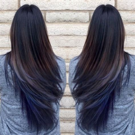 hairstyle with dark color underneath 40 blue ombre hair ideas hairstyles update