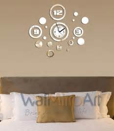 Living Room Clocks by Big Mirror Wall Clock Decorative Home And Living Room