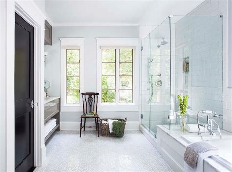 walk in shower with attached bathtub transitional