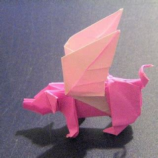 3d Origami Pig - origami pigs peppa easy craft ideas