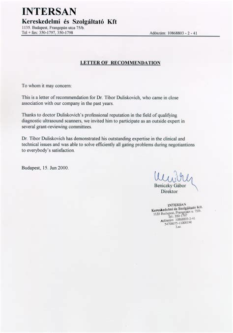 Business Assistant Reference Letter professional recommendation letter for assistant