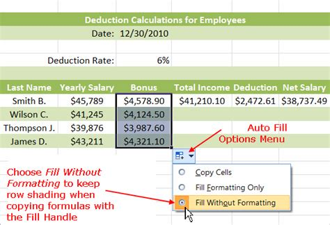excel 2010 how to use fill handle tutorial tips and using the fill handle to copy formulas in excel