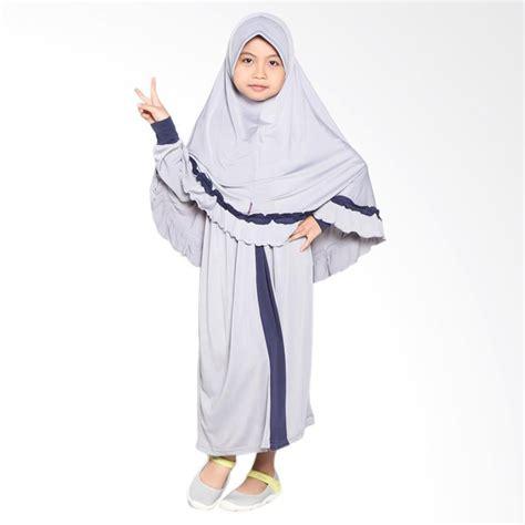Syari Anak Abu Sw Baju Muslim Anak Perempuan Jersey Abu Abu jual allev raisha baju muslim anak abu dongker harga kualitas terjamin blibli