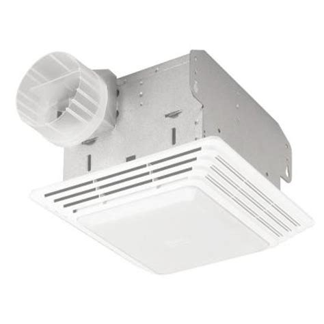 broan bathroom fan home depot null 50 cfm ceiling exhaust bath fan with light