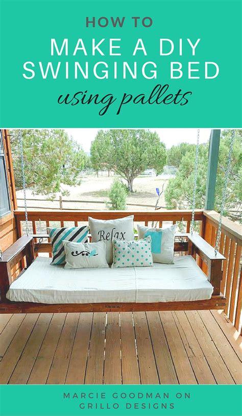 swing bed diy pallet swing bed grillo designs