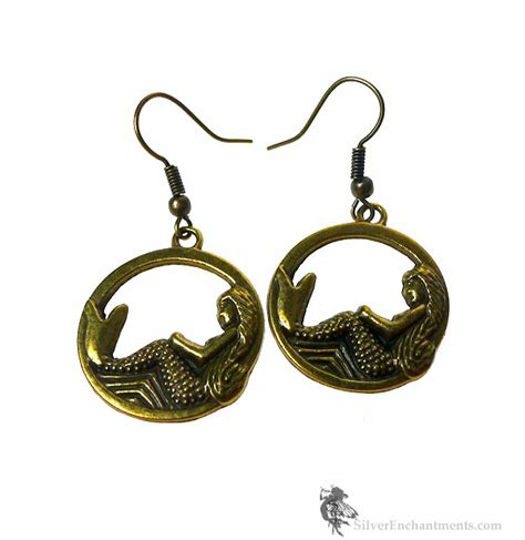 Mermaid Earring bronze mermaid earrings