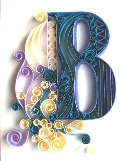 Paper Craft Letters - beautiful paper quilling letter patterns by sabeena karnik