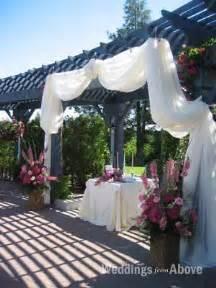 arbor altar fabric drape wedding altar arbor ceremony