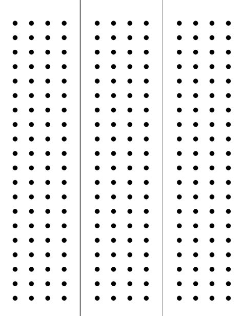 dot template pin dot paper on