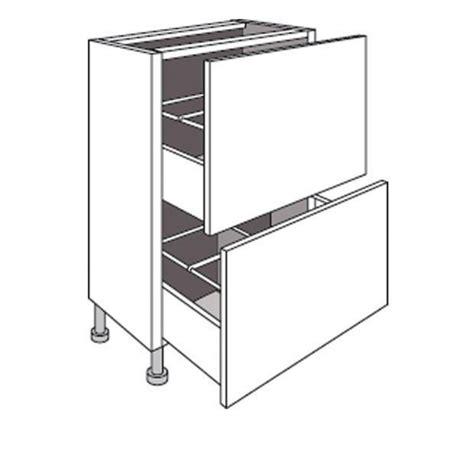 profondeur meuble de cuisine meuble de cuisine bas faible profondeur 2 tiroirs twist