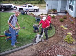 landscape curbing machine curb it yourself the curbing process