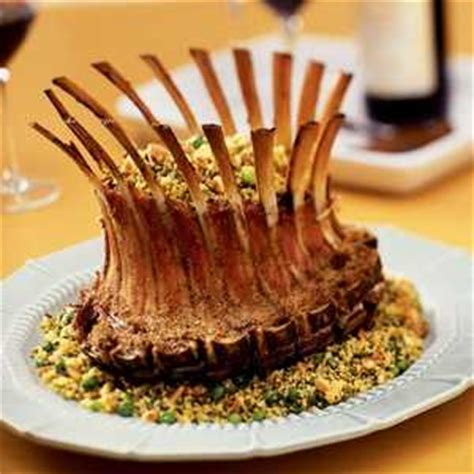 crown rack with green herb couscous recipe myrecipes