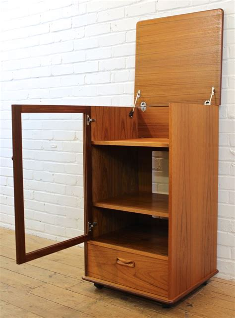 retro hi fi cabinet vintage g plan fresco tall teak retro hi fi media
