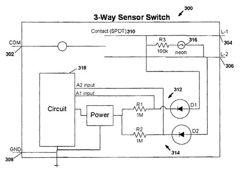 patent us7791282 motion sensor switch for 3 way light