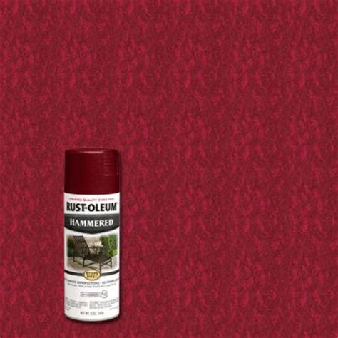 rust oleum stops rust 12 oz protective enamel hammered bright spray paint 6 pack 7217830