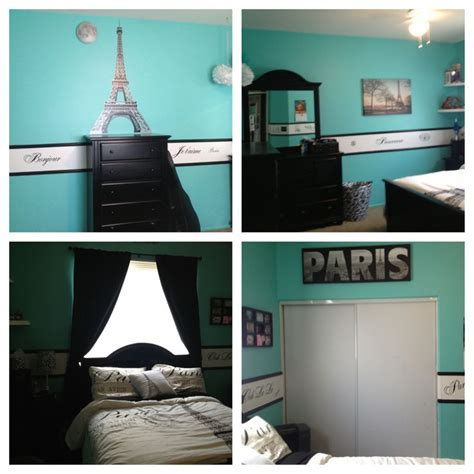 diy paris themed bedroom paris theme and tiffany blue bedroom room ideas